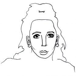 Dessin graphique illustrant Noëmie Simard-Dupuis