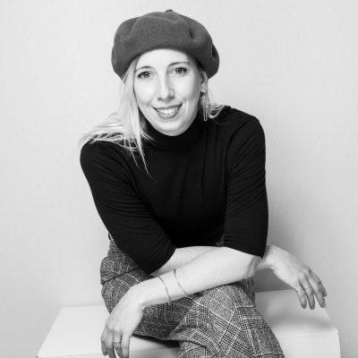 Portrait en noir et blanc de Noemie Simard-Dupuis